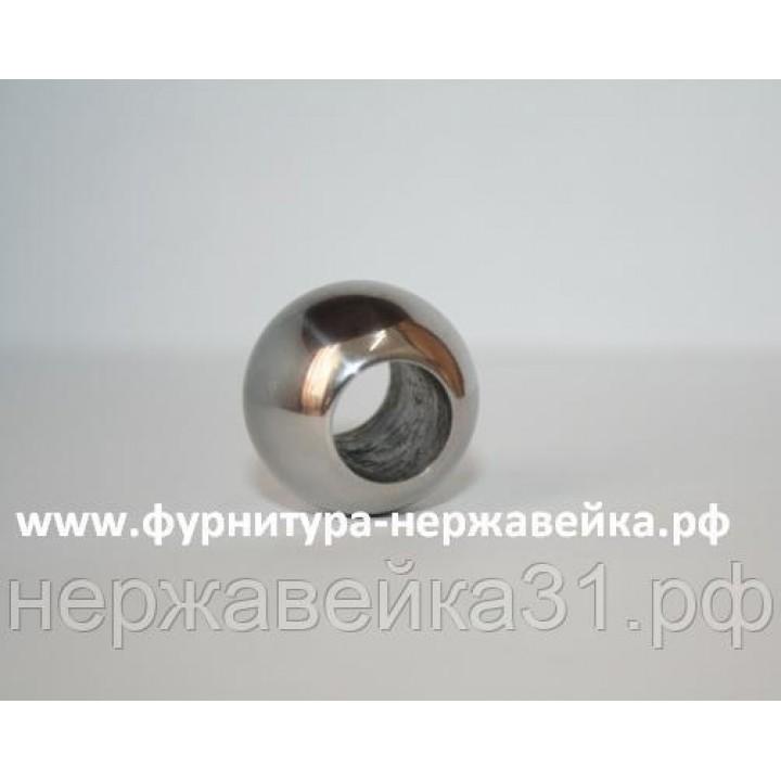 Заглушка шар сквозной 16,0x22 AISI 304 зерк.