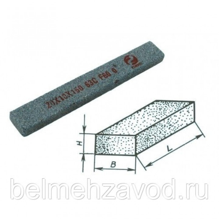 Брусок шлифовальный 25х13х150 63C 25 СТ1 (GC F60 O)