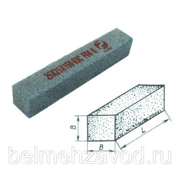 Брусок шлифовальный 8х 8х100 63C 25 СТ1 (GC F60 O)
