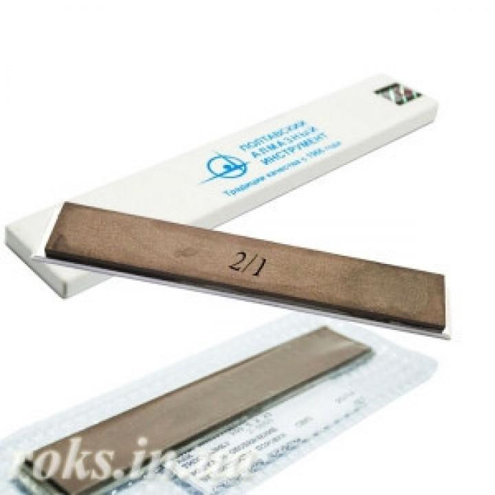 Эльборовый брусок 2/1 для точилок типа Apex 150х25х5мм на органической связке, на бланке