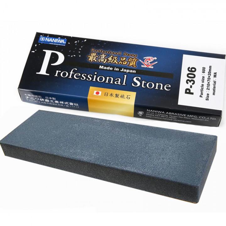Абразивный точильный камень для заточки NANIWA Professional 600 grit(210x70x20 мм)