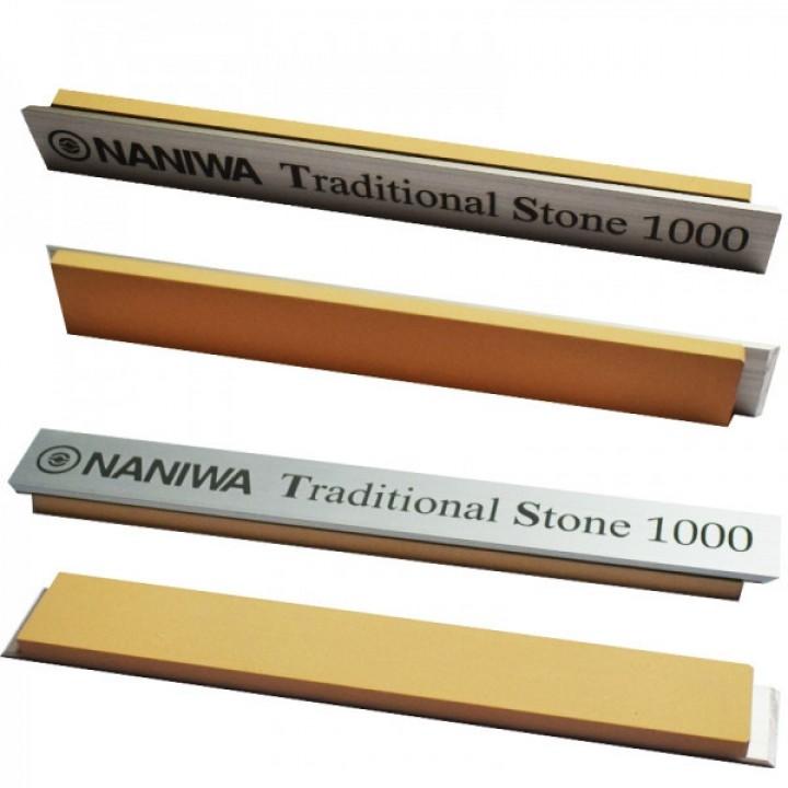 Абразивный точильный камень для заточки NANIWA Traditional Stone на бланке 150х20х5мм, 1000 grit
