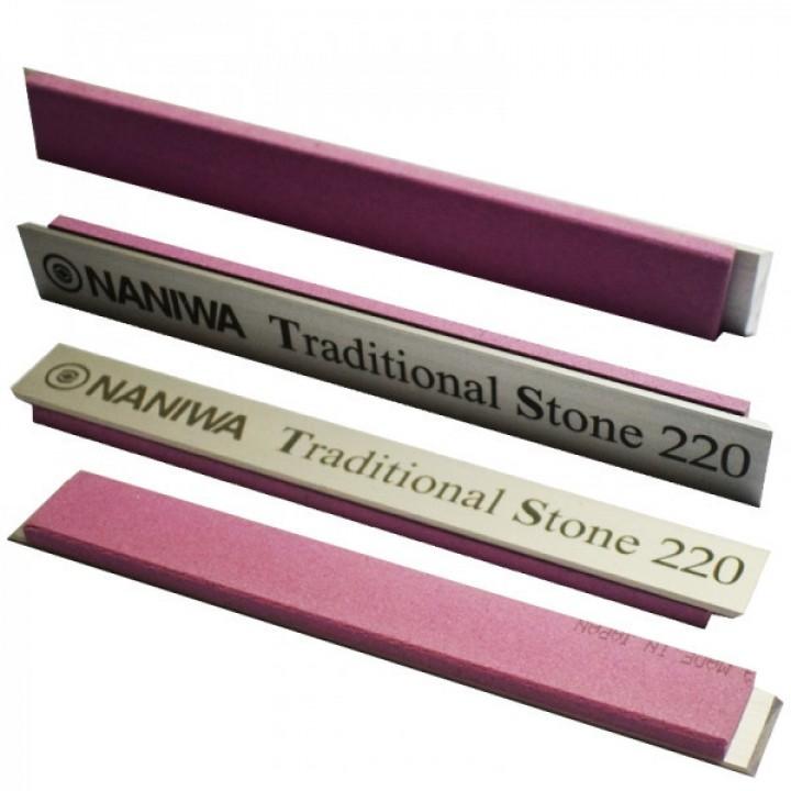 Абразивный точильный камень для заточки NANIWA Traditional Stone на бланке 150х20х5мм, 200 grit