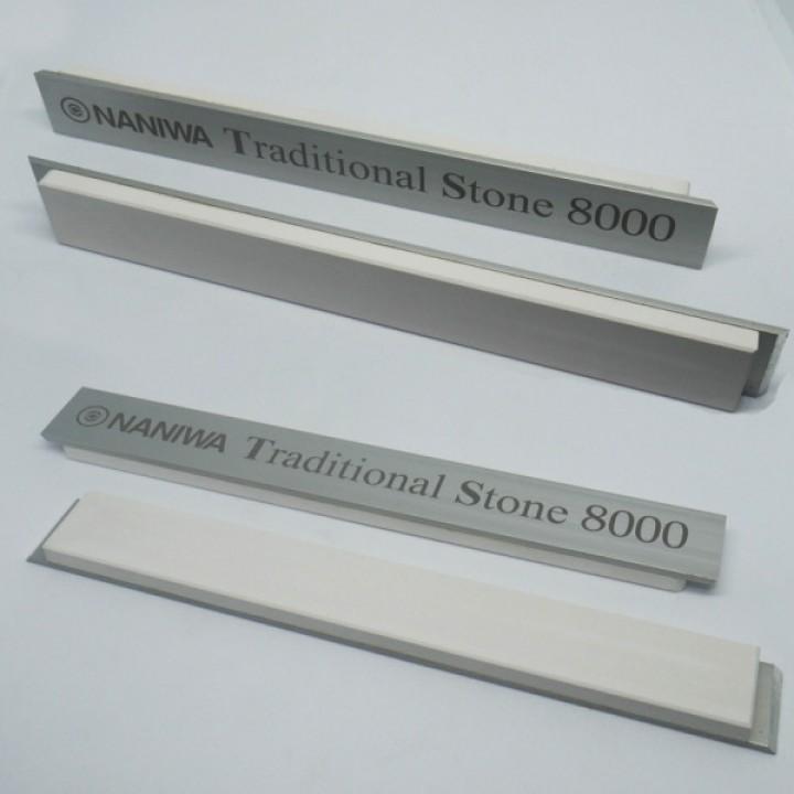 Абразивный точильный камень для заточки NANIWA Traditional Stone на бланке 150х20х5мм, 8000 gri