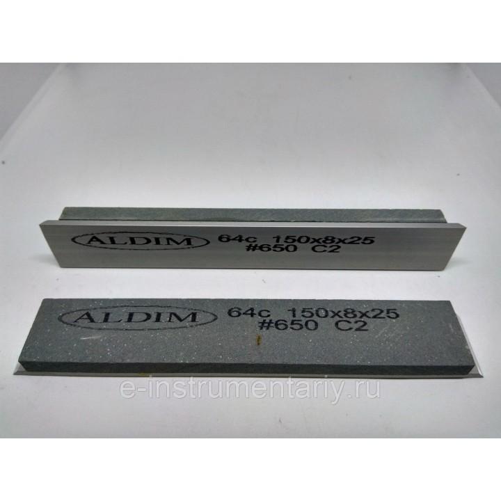 Брусок на бланке ALDIM 150х25х8. 650 грит 64с - зеленый карбид кремния