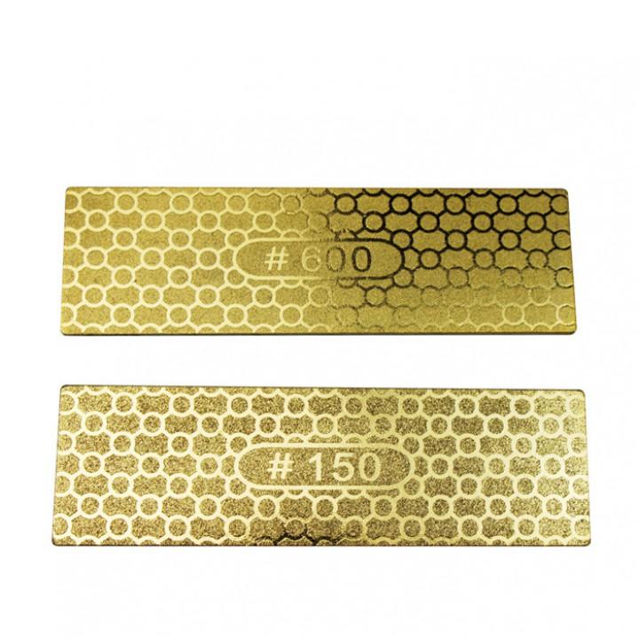 Двусторонний алмазный точильный камень для резки камня Ножи для кухни Сад Деревообрабатывающий абразивный материал Набор 150