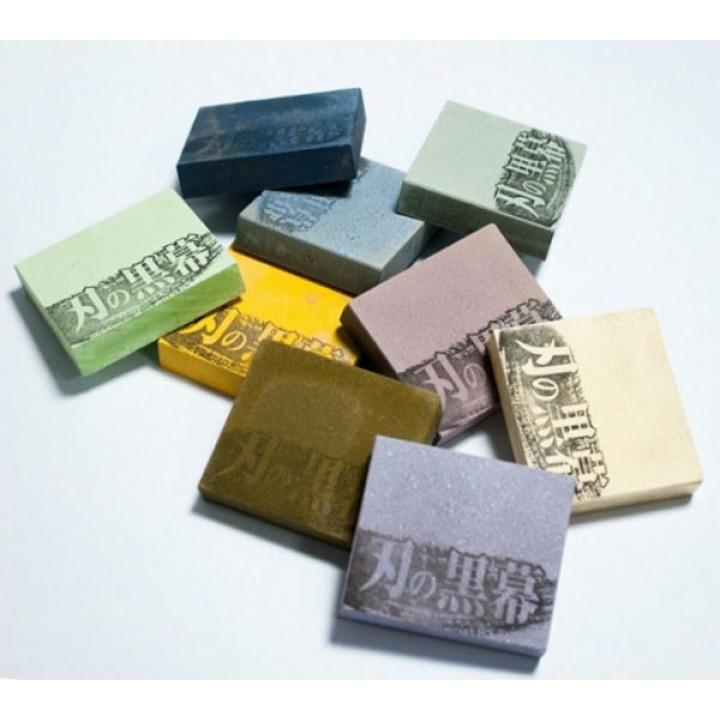 Камень для заточки SHAPTON Pro, 70х62-57х15мм 320 grit (синий)