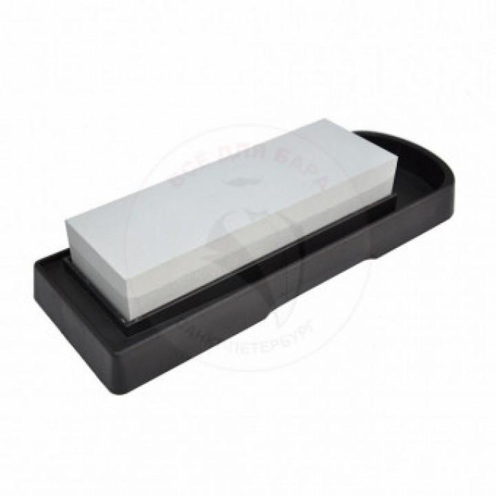 Камень точильный 2х-сторонний 240/800 на подставке «WHETSTONE»